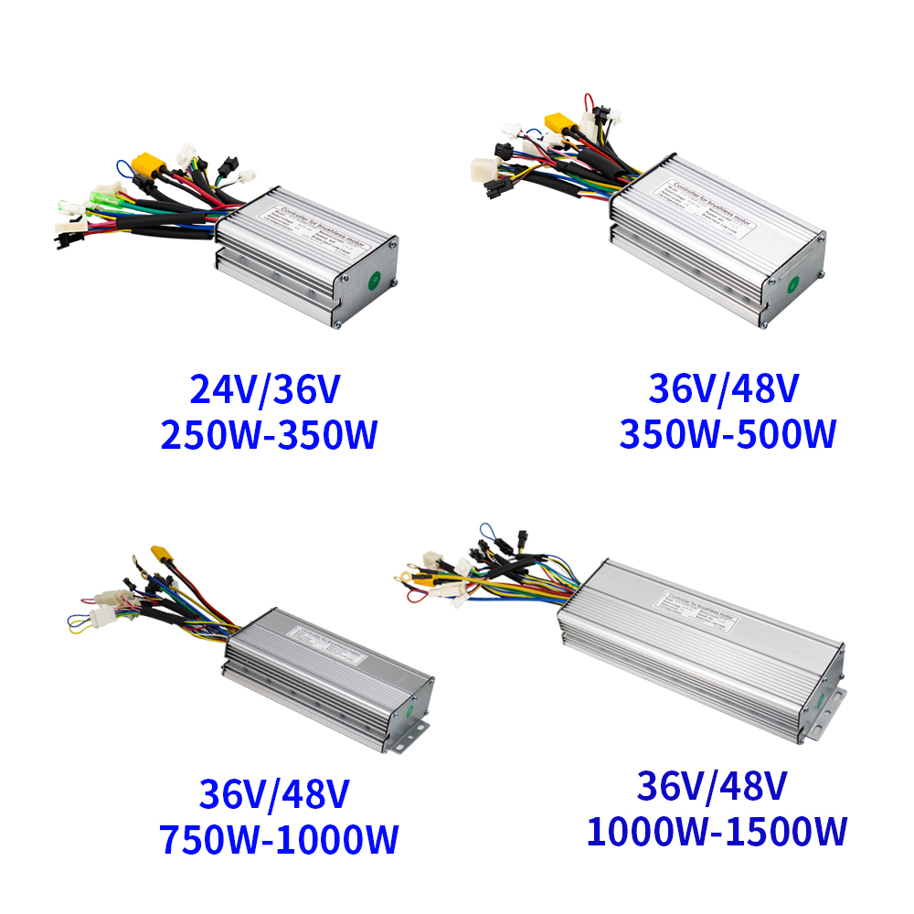 Ebike Controller 24V 36V 48V 250W 350W 500W 750W 1000W 1500W Brushless 6 9 12 18 Mosfet KT Controller Electric bike Accessorice