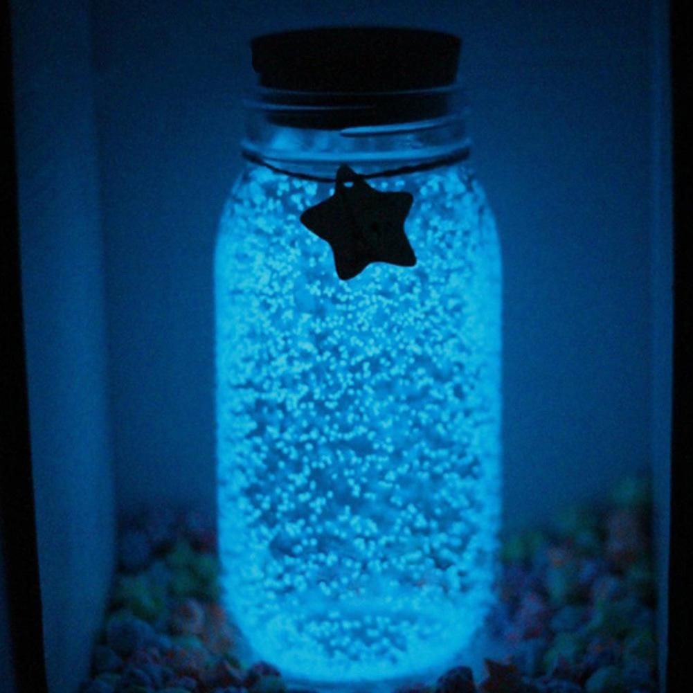 10g Luminous Sand Glow In Dark Glowing Fluorescent Luminous Sand Wishing Bottle Fish Tank Gravel Decor Kids DIY Made Toys