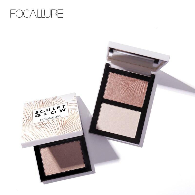 FOCALLURE Gesicht Bronzer Highlighter Concealer Palette Lange langlebig Leicht zu Tragen Contouring Glowing Highlighter Pulver Palette