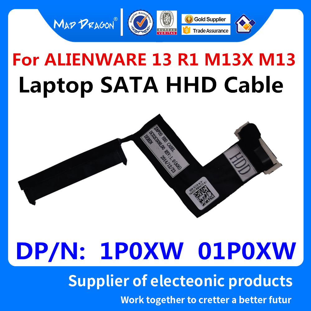 New Original Laptop SATA HHD Cable Hard Disk Drive Cable For Dell ALIENWARE 13 R1 M13X M13 1P0XW 01P0XW DC02C008L00