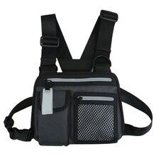 Men Chest Rig Bag Reflective Tactical Hip-hop Chest Bag Multi-function Vest Function Tactical Chest Rig Bag Reflective Waist Bag