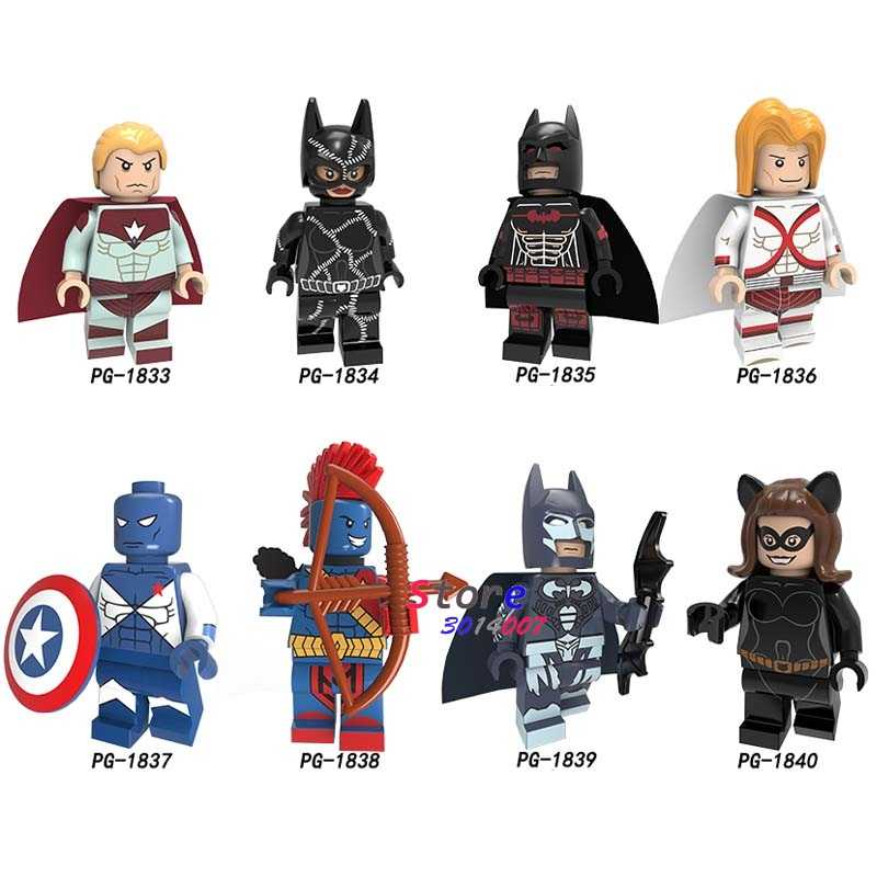Superhéroes individuales Batman Yondu Victoria capitán Superman Starhawk Starfire Punisher Deadpool Flash bloques de construcción juguetes para niños