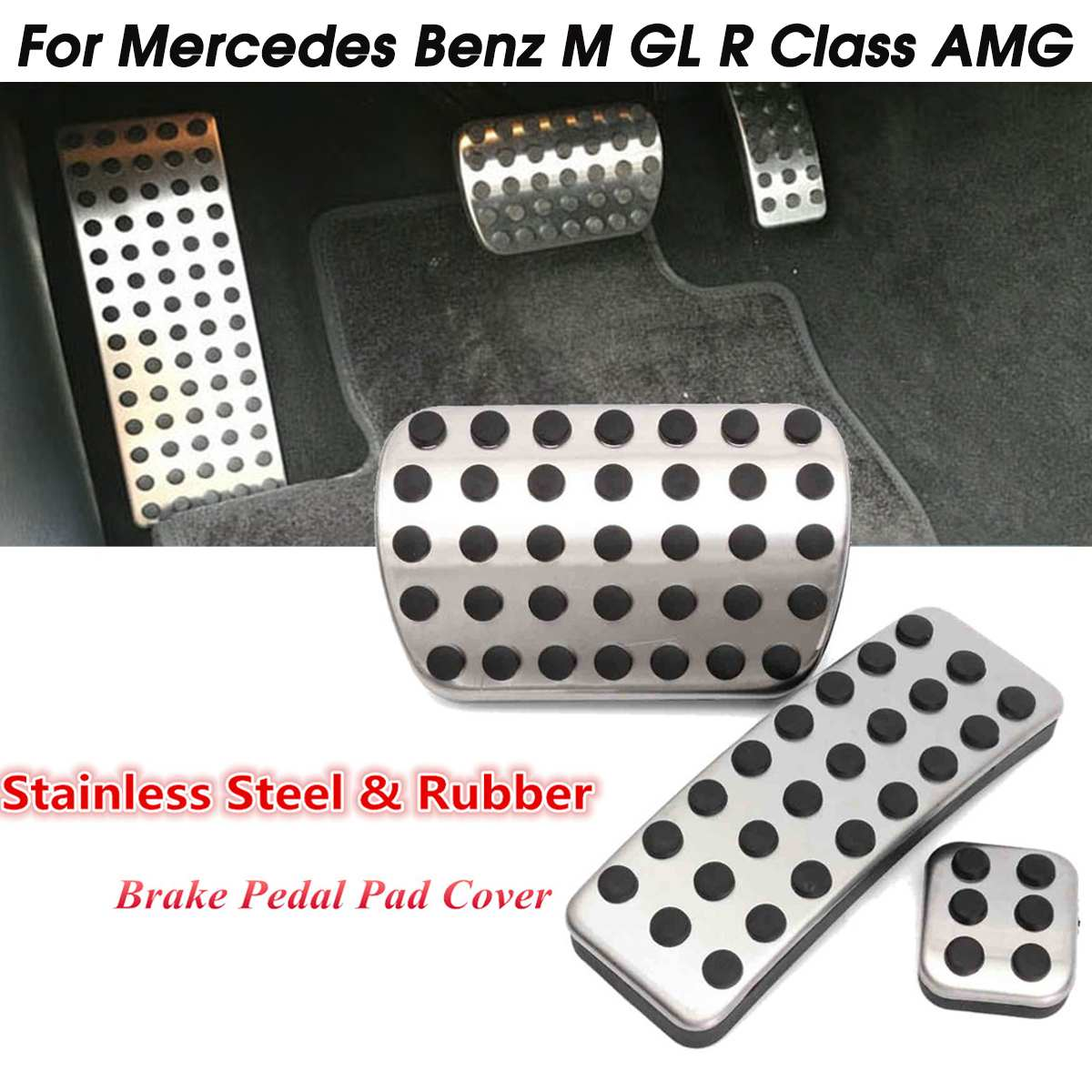 Mercedes Footrest Foot rest Aluminium Pedal W202 W203 W204 C Class AMG look