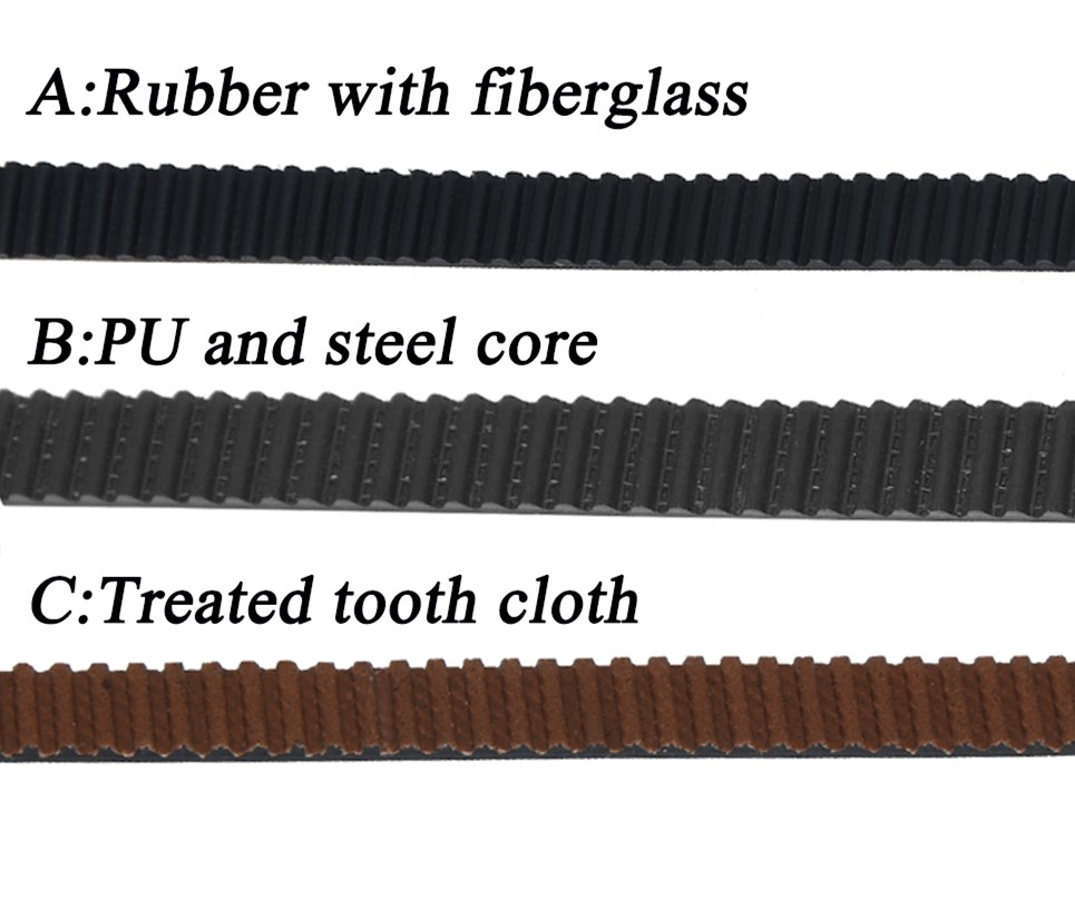 5M/lot PU With Steel Core GT2 Belt Black Color 2GT Timing Belt 6mm 9mm 10mm 15mm Width 5M A Pack 3d Printer Accessories