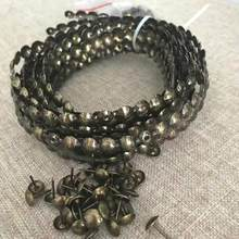 10 metro estofamento tiras de unhas 11mm latão níquel bronze decorativo unhas fitas preto tachas sofá cabeceira decoração bronze casa unhas