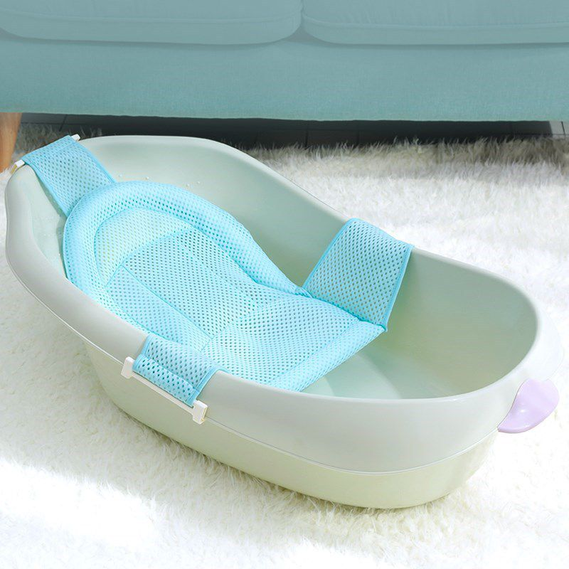 Newborn Breathable Non-slip Pad Baby Bath Racks Head Protective Soft Kids Shaping Mesh Bathtub Pads New
