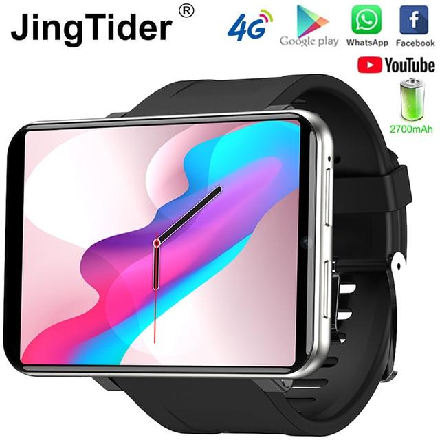 "2.86 ""IPS HD מסך גדול 4G חכם שעון DM100 אנדרואיד 7.1 Smartwatch MTK6739 Quad Core 2700mAh סוללה 3GB 32GB Wifi GPS מצלמה"