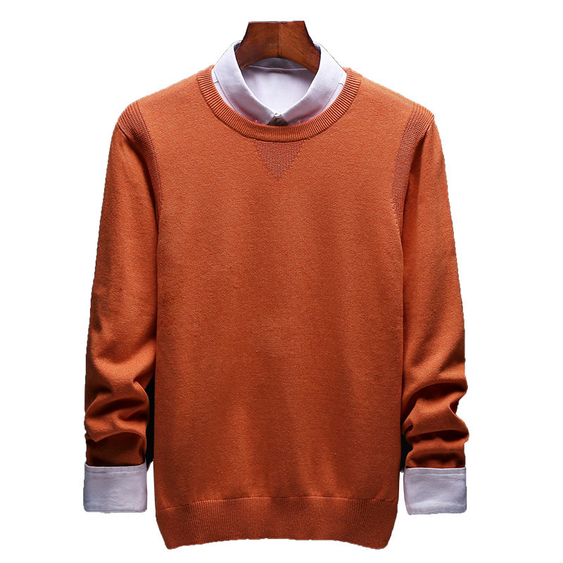 Spring And Autumn Men's Sweater Korean Knitwear Round Neck Sweater Trend Solid Color Jacket Long Sleeve Shirt