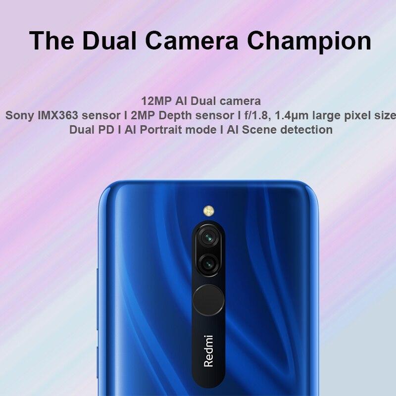 Image 5 - In Stock Global Rom Xiaomi Redmi 8 4GB 64GB Snapdragon 439 Octa Core Mobile Phone 12MP Dual Camera 5000mAh Large Battery OTA