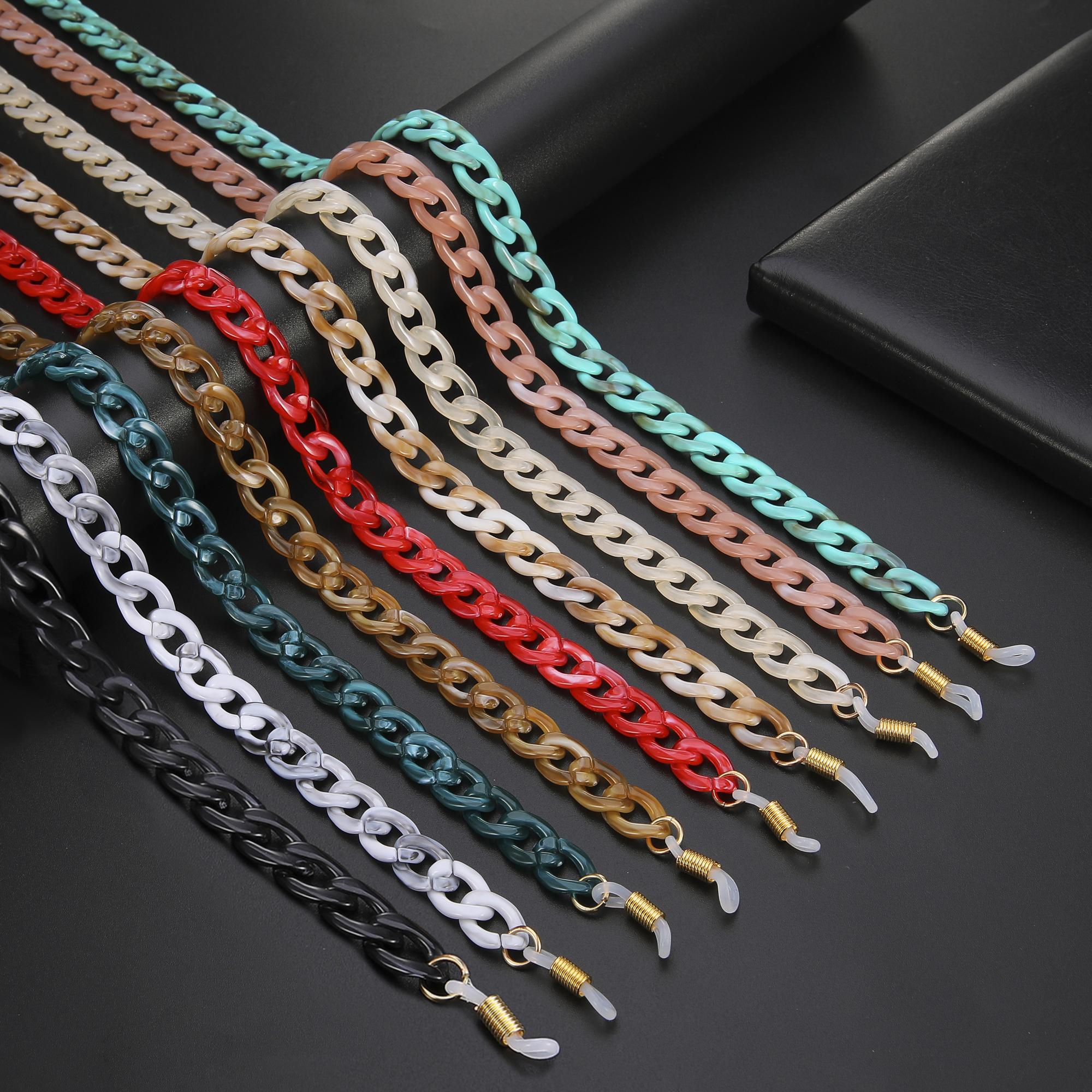 Skyrim Fashion Acrylic Sunglasses Chains Lanyard Women Anti slip Reading Glasses Chain Cord Holder Neck Strap Rope Gift 2021