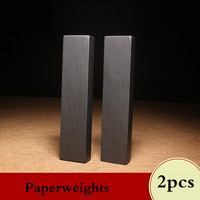 2pcs Paperweight Chinese Calligraphy Special Stone Paperweights Traditional Ink Painting Writing Natural Cobblestone Paperweight