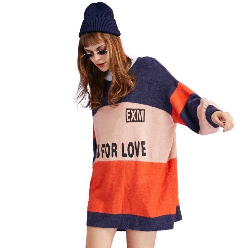 stripe stitching sweater 1