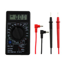 Multimètre numérique LCD multifonction DT-830B, voltmètre, ammètre, capacité Ohm, avec fils, outil de test
