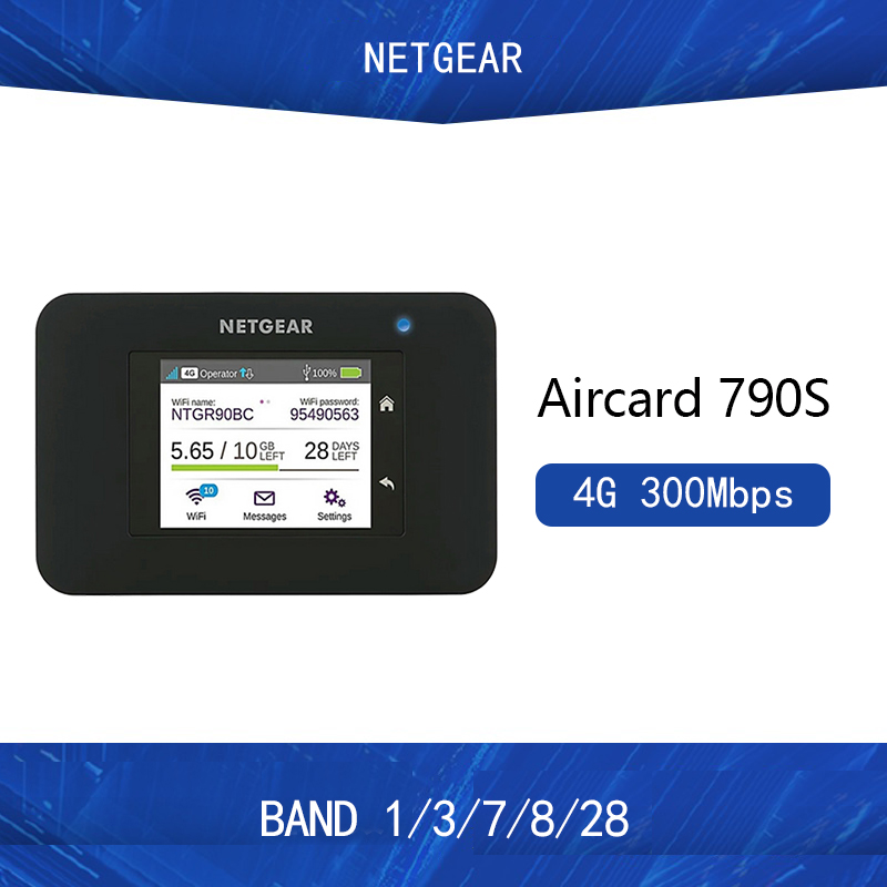 new Unlocked Netgear Aircard 790s (AC790S) 300Mbps Cat 6 4G Mobile Hotspot Wifi Router Portable WiFi Rout PK E5786 image