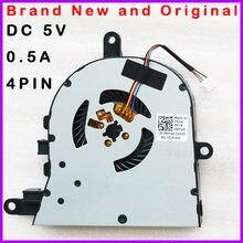 Novo portátil cpu ventilador de refrigeração refrigerador radiador para dell inspiron 3593 núcleo i3 10th gen dc 5v 0.5a 4pin