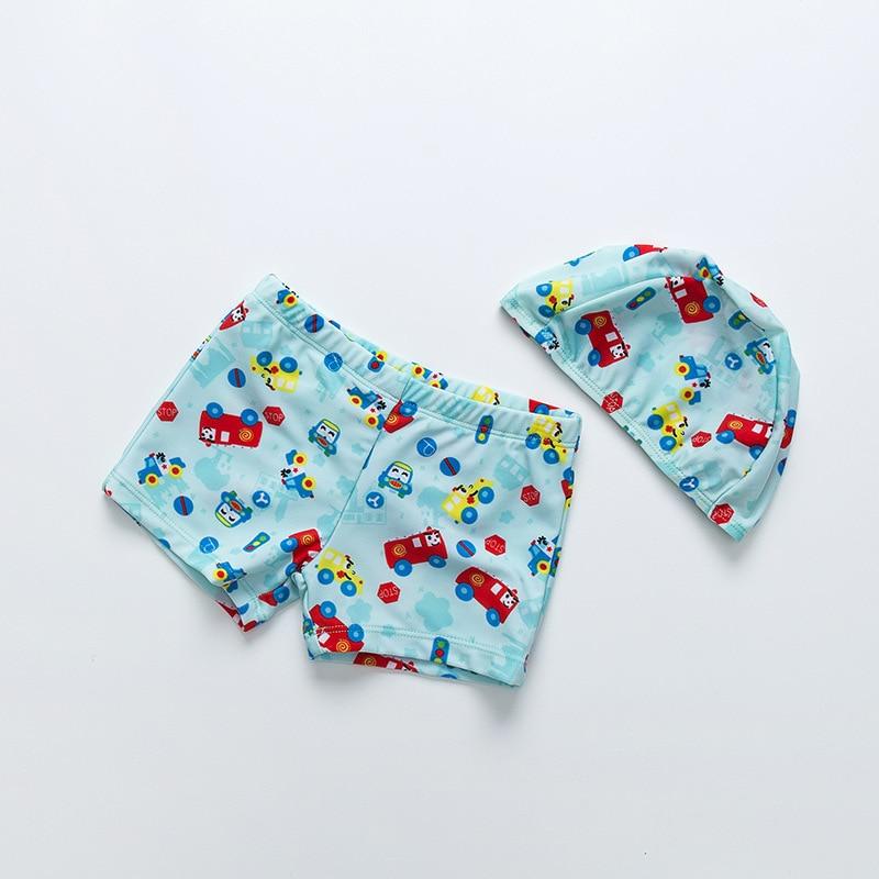 KID'S Swimwear Children Super Cute Cartoon Swimming Trunks Car Positioning Flower Type Swimming Trunks Baby AussieBum