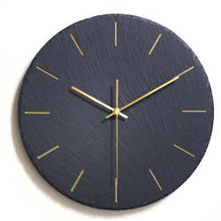 12 cal kreatywny łupek ścienny zegary Ins prosty Black Rock zegar ścienny salon nowoczesna sztuka dekoracyjna 10 cal powiesić zegar