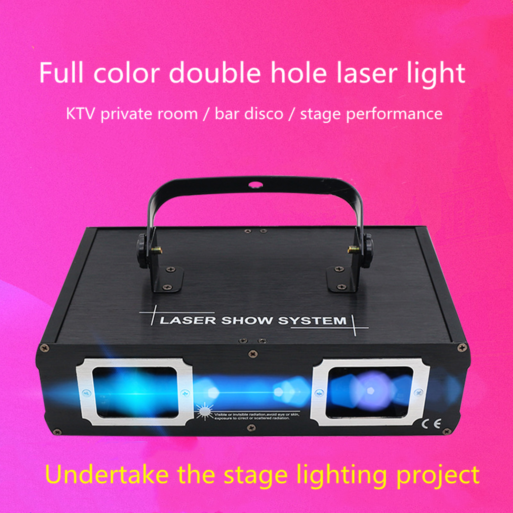 ALIEN Doppel Loch Disco DJ Laser Strahl Linie Scanner Projektor RGB DMX512 Bühne Beleuchtung Wirkung Dance Bar Xmas Party Hochzeit licht