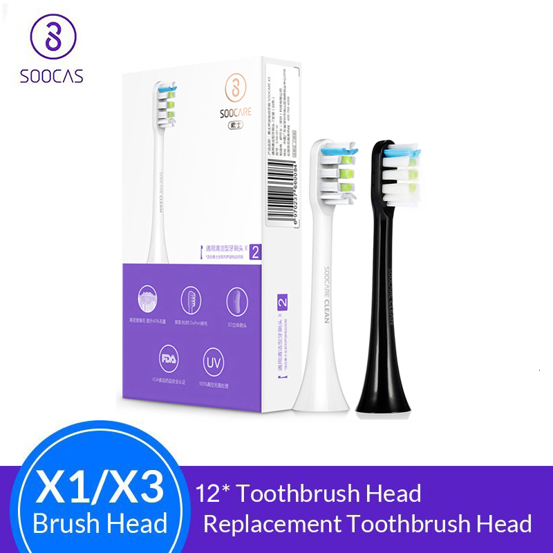 Soocas X3 X1 X5 Toothbrush Heads Original Sonic Electric Replacement Tooth Brush Heads 2/4/8/12Pcs