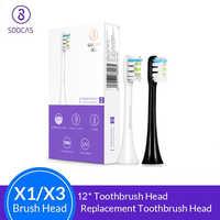 Soocas X3 X1 X5 cabezales de cepillo de dientes original Sonic Electric de repuesto cabezales de cepillo de dientes 2/4/8/12 Uds