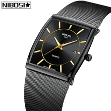 NIBOSI Mens Watches Top Brand Luxury Waterproof Sport Watch Men Casual Ultra Thin Mesh Band Quartz Wrist Watch Relogio Masculino цена и фото