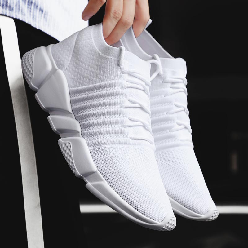 Large Size Sock Trainers Man Sneakers Summer Running <font><b>Shoes</b></font> Man Sports <font><b>Shoes</b></font> Men Footwear for Sport <font><b>Shoes</b></font> Athletic White B-<font><b>361</b></font> image