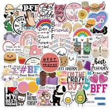 10/30/50PCS Best Friend Friendship Graffiti Stickers Decal Skateboard Phone Laptop Guitar Suitcase Bike Kid Cartoon Sticker Toy