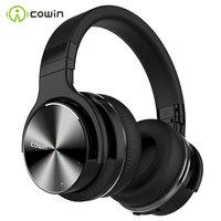 Cowin-auriculares inalámbricos E7 PRO con Bluetooth, dispositivo con cancelación activa de ruido, micrófono y graves profundos sobre la oreja