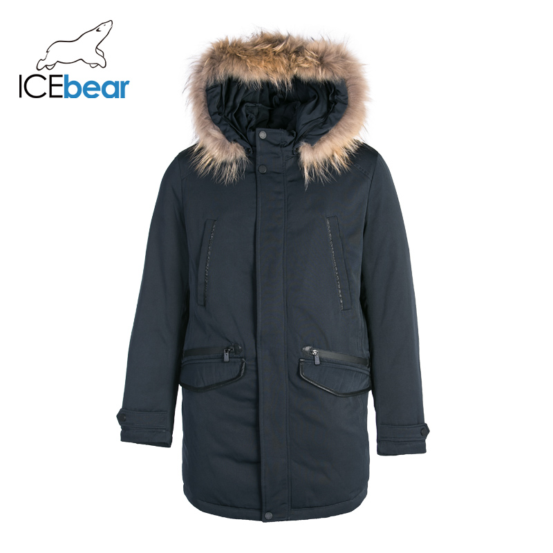 ICEbear  Down Jacket Men Winter New long Handsome Male Jacket high quality Warm Outwear Coats For Men  MPN317938