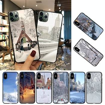 Babette Winter New York Central Phone Case For iPhone 8 7 6 6S Plus 5 5S SE 2020 12pro max XR X XS MAX 11 case image