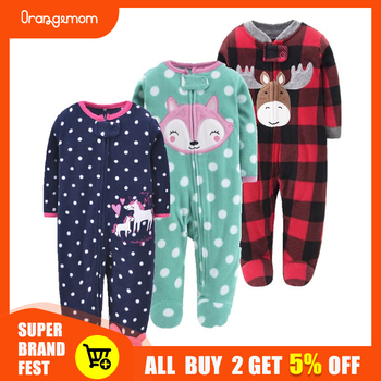 Orangemom anime home love Newborn baby boys spring baby Romper girl romper Infant fleece Jumpsuit for kids new born baby clothes