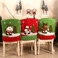 Neue Heiße Verkauf Nette Frohe Weihnachten Stuhl Abdeckungen Santa Dining Chair Zurück Abdeckungen Party Weihnachten Abendessen Tabelle Decor Weihnachten Geschenk
