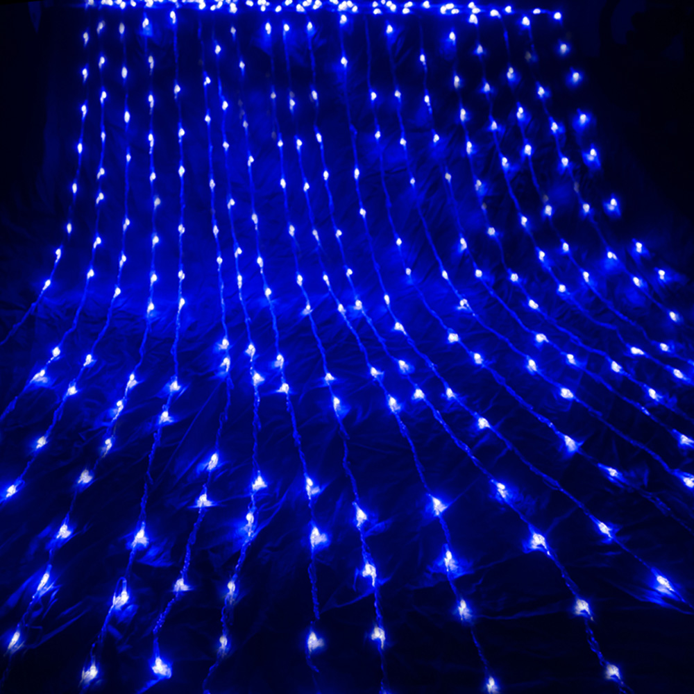 3X3M 6X3M Waterfall Waterproof Meteor Shower Rain LED String Light Christmas Wedding Curtain Icicle Fairy String Garland