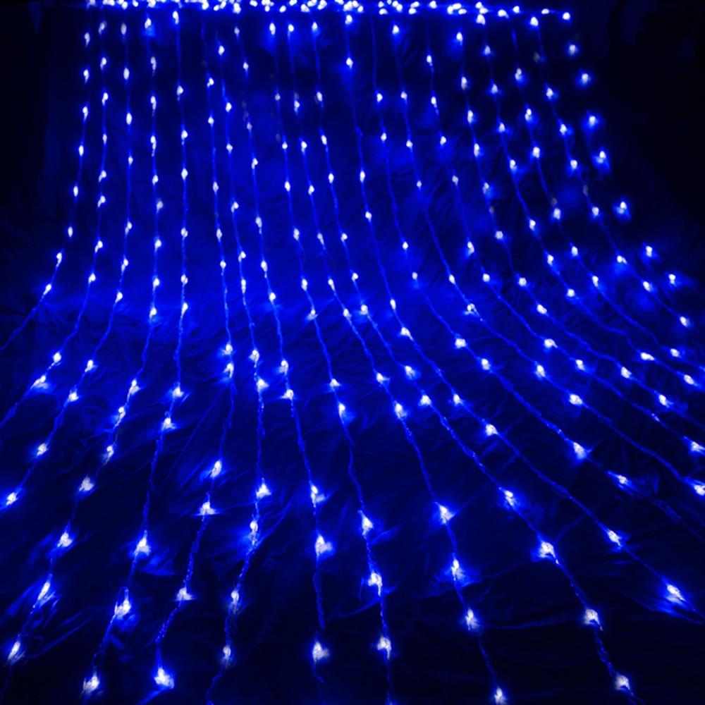 3X3M 6X3M Waterfall Waterproof Meteor Shower Rain LED String Light Christmas Wedding Curtain Icicle Fairy String Garland
