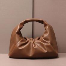 Монограммой письма мешочек из натуральной мягкой кожи для женщин