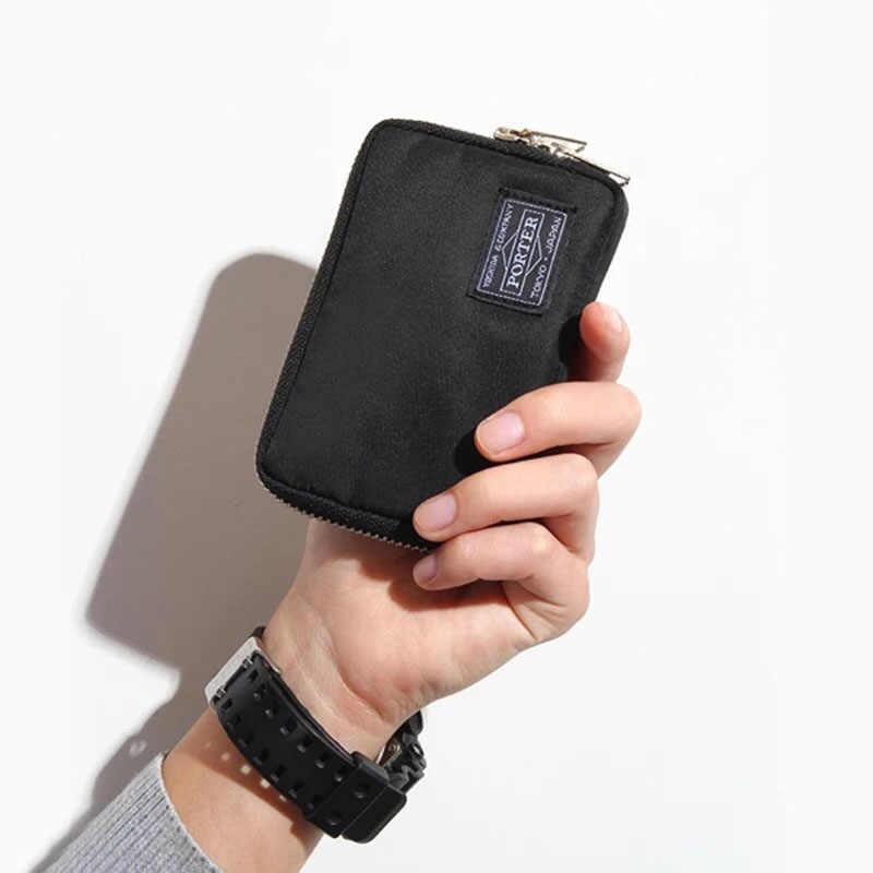 2019 اليابانية والكورية العلامة التجارية الرجال محفظة النايلون القماش محفظة صغيرة الإناث حقيبة يد عارضة طالب محافظ الشباب محفظة