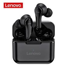 Oryginalny Lenovo QT82 Ture bezprzewodowe słuchawki douszne sterowanie dotykowe słuchawki Bluetooth Stereo HD rozmowa z mikrofonem bezprzewodowe słuchawki