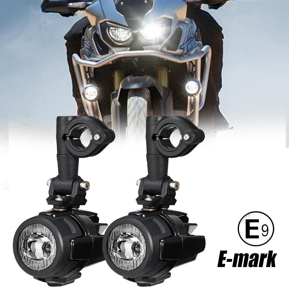 Universal Fogs Lights For Honda Africa Twin CRF1000L NC700X VFR1200X Crosstourer For Suzuki V-Strom DL 650 1000 For Kawasaki