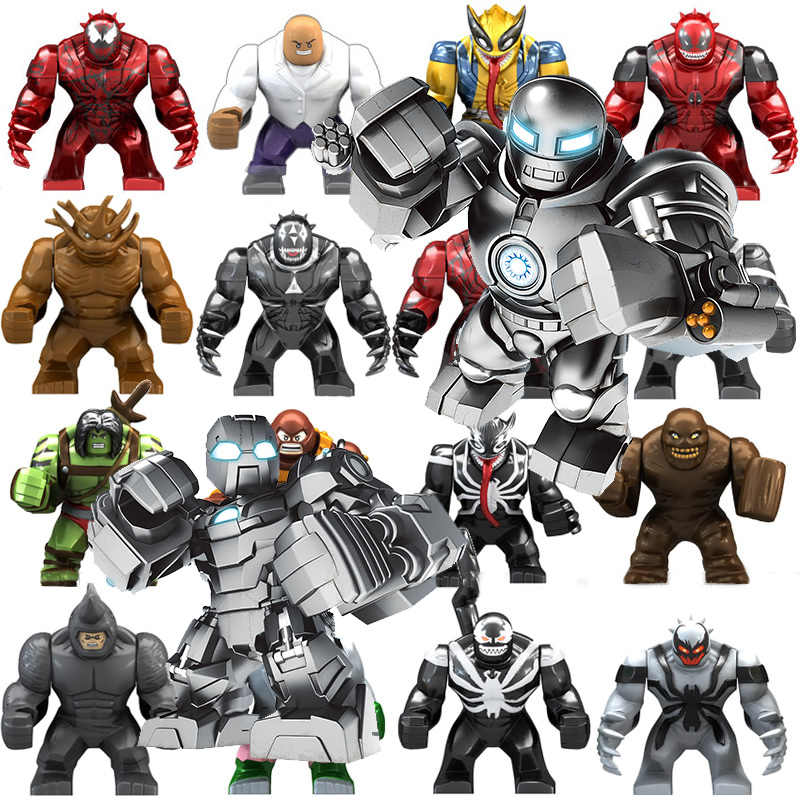 2019 Avenger 4 Endgame Super Hero Legoings Model Blok Bangunan Thanos Spiderman X-Pria Hulk Iron Man Mainan untuk anak-anak