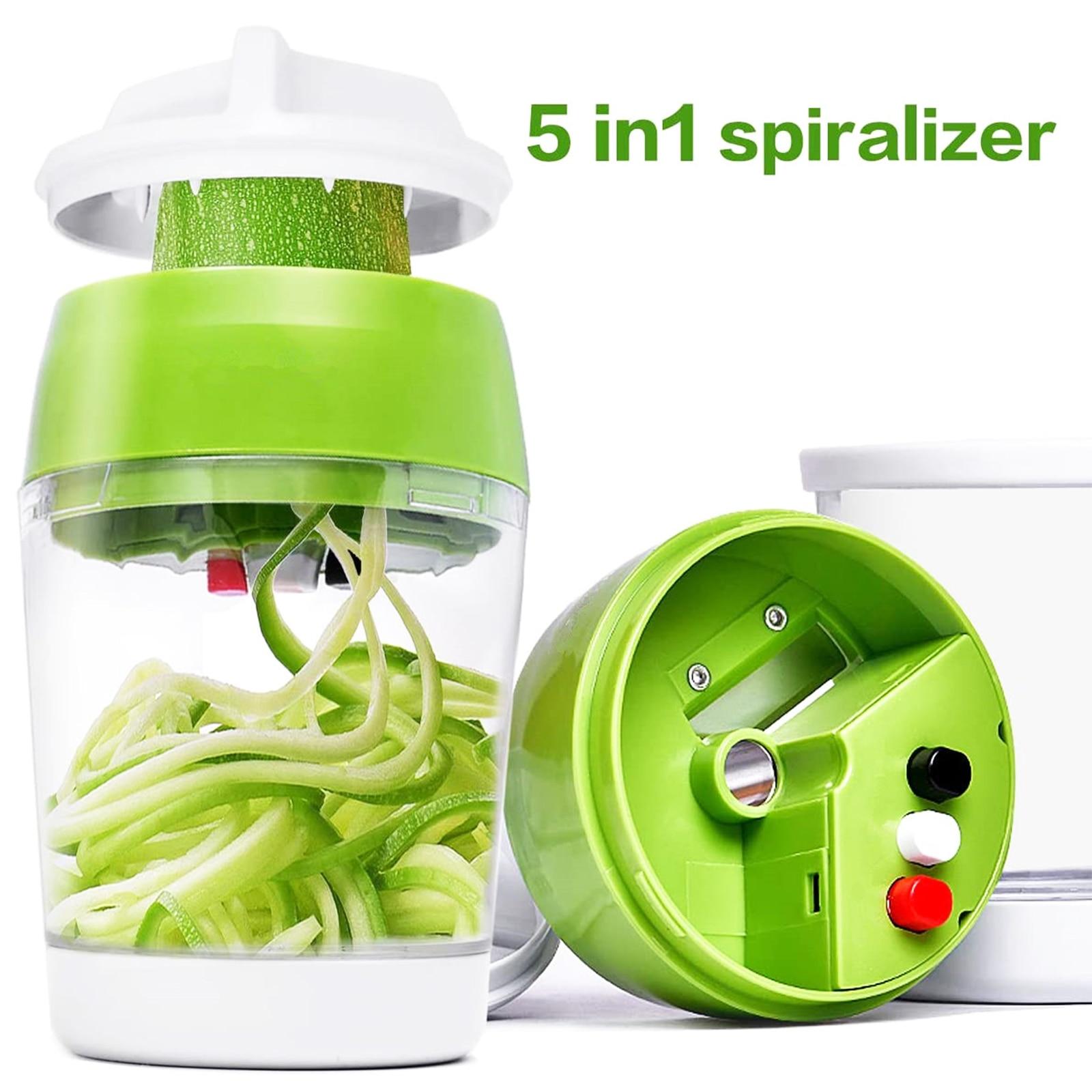 4 в 1 нож для резки овощей Кухня контейнер регулируемый ручная Терка-шинковка для овощей спиральный резак для цукини спагетти приготовления