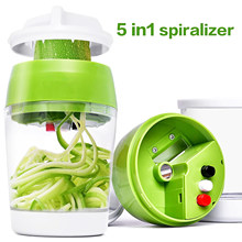 4 em 1 vegetal slicer cozinha recipiente ajustável handheld spiralizer cortador espiral para abobrinha fabricante de espaguete