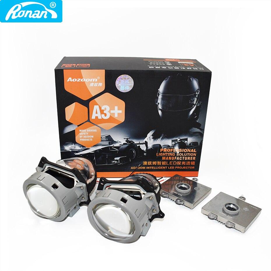 RONAN mise à niveau Super qualité 2 pièces 35W 3200LM 5500k 3.0 pouces LED Bi projecteur lentille phare