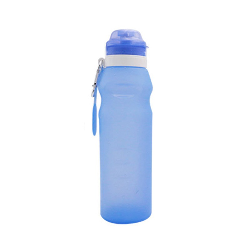 600ml Silicone Folding Water Bottle Outdoor Sports Portable Water Travel