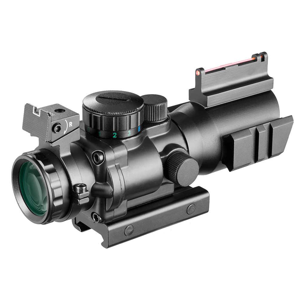 4x32 كتف Riflescope 20 مللي متر تتوافق مع البصريات المنعكس نطاق البصر التكتيكي للصيد بندقية بندقية الادسنس قناص المكبر مسدس هواء