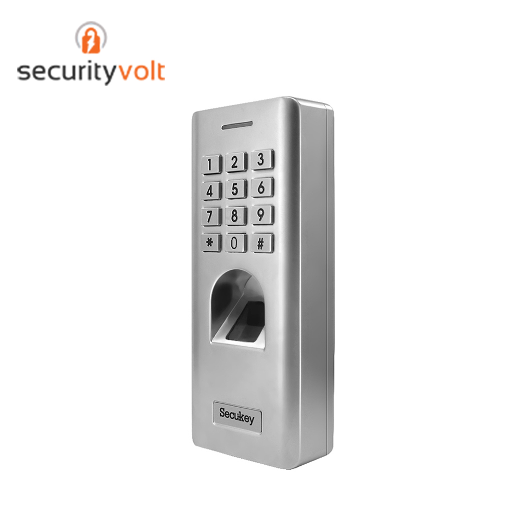 IP66 Waterproof Biometric Fingerprint Reader Standalone Access Control System With Metal Keypad For Outdoor Use