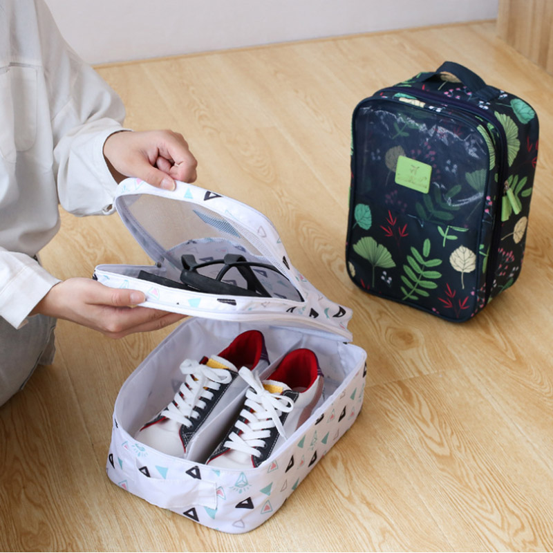 Travel Portable Shoes Bags Women Cosmetic Makeup Case Clothes Underwear Bra Pouch Overnight Zipper Organizer Accessories Items