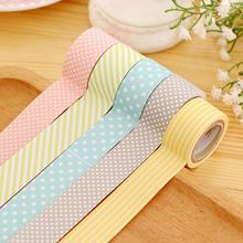 5 рулонов горошек точка полосатая клей клей васи бумага декоративный маскирующий лента