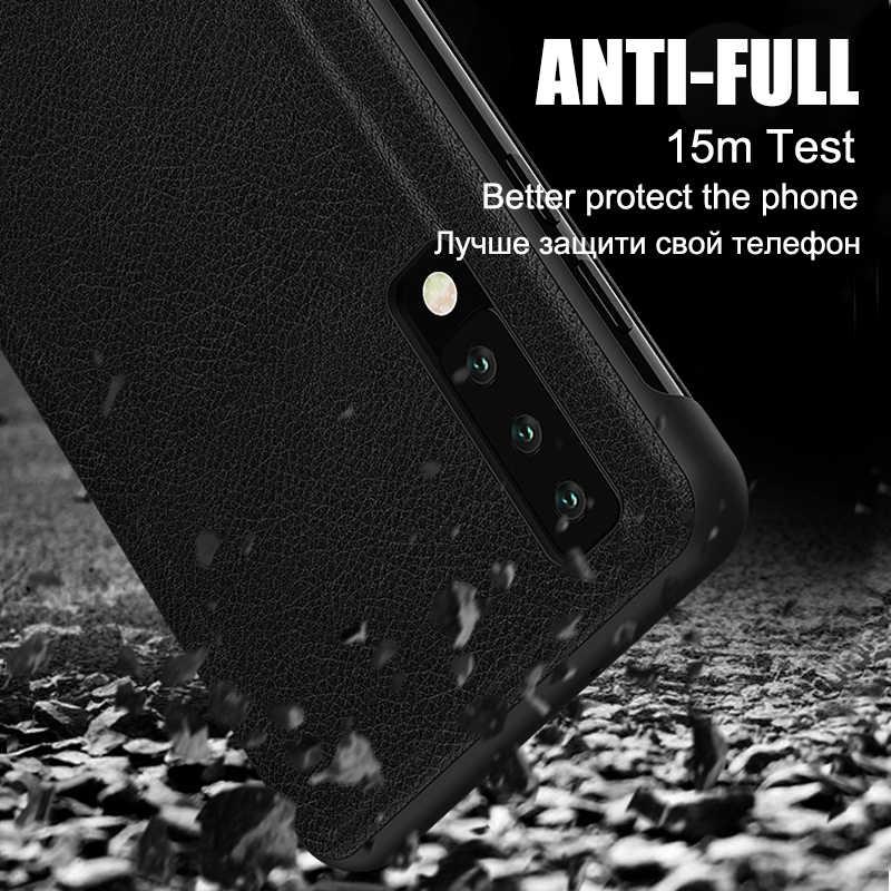 Vista inteligente funda del teléfono para Huawei P30 P20 amigo 20 30 10 9 Pro Lite P10 más Nova 3 Y6 Y7 P Smart Z 2018 2019 cubierta de tirón de cuero