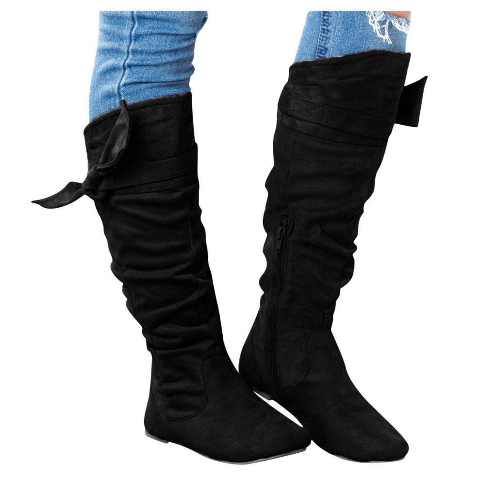 Long Boots Flat Shoes zapatos de mujer