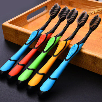 цена на 10pcs/lot Ultrafine Soft Bristle Toothbrush Bamboo Charcoal Nano Brush Oral Care Nanometer Antibacterial Toothbrush Blackhead